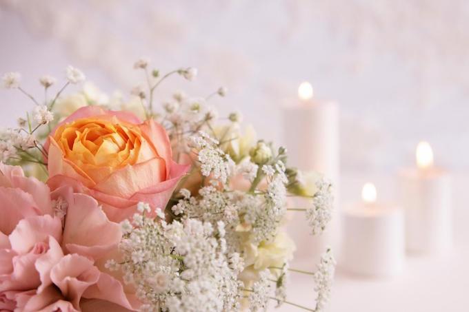 結婚式場の花